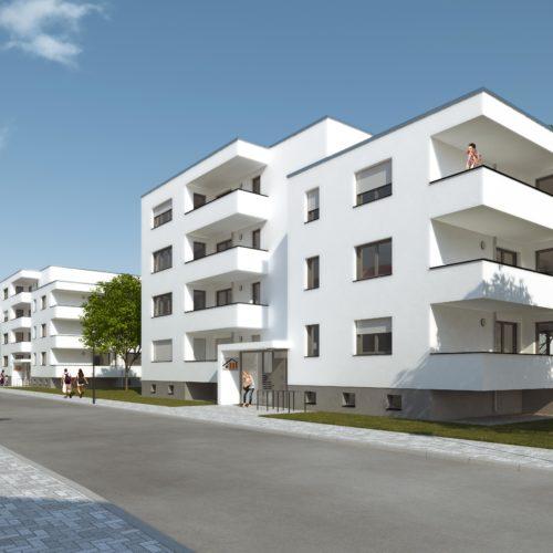 2014/15, Neubau von drei Wohnhäusern in der Windmühlenstraße, Köthen